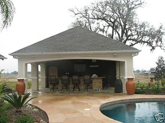 59 best images about pool house cabanas on pinterest for Pool cabana plans