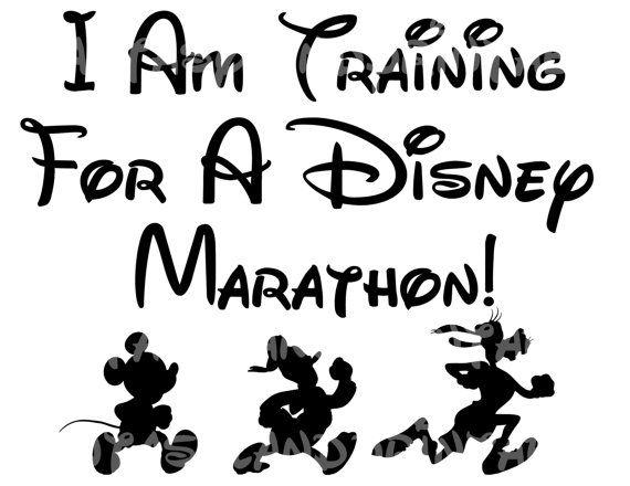 INSTANT DOWNLOAD Training For A Disney Marathon Run Marathon Disney Mouse Print at Home DIY Printable Iron Transfer Shirt Run Goofy Race