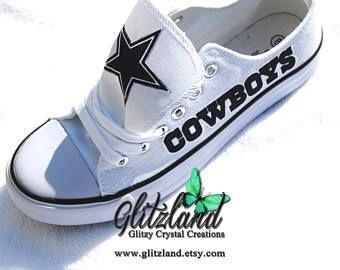 Dallas Cowboys White Low Top Fashion Tennis Shoes