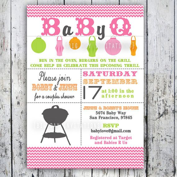 Baby Shower Invitation Baby Q Baby BBQ  by BigDayInvitations, $12.49