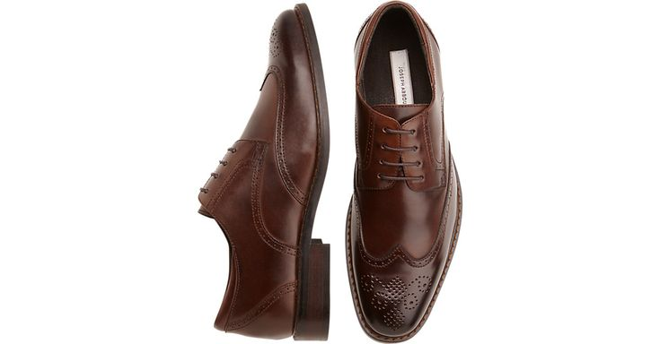 Check this out! Joseph Abboud Brown Wingtip Lace-Up Shoes - Dress Shoes from MensWearhouse. #MensWearhouse