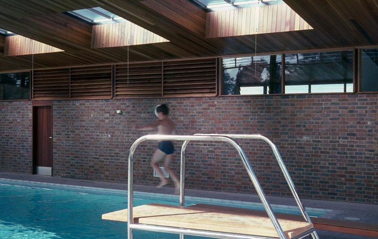 Larchfield Swimming Pool, The Manser Practice #house #pool #home #residential #private #reflection #retractable #roof #retractableroof #rural #domestic #views #trees #inside #internal #historic