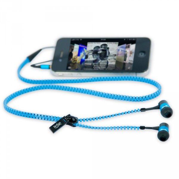 Hi-Fun hiZip Fermuarlı Kulaklık Mavi