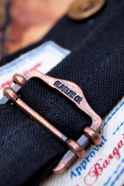Oldblue Co. Work Pants Type I - Black Selvedge Duck | Cinch-back detail.