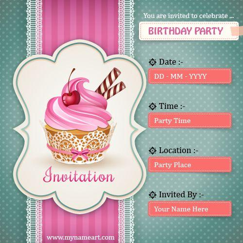 Unique Online Birthday Card Maker Ideas On Pinterest - Birthday invitation card editor online free