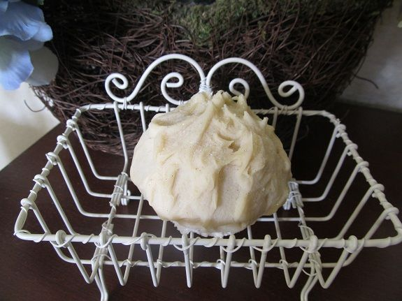 Shabby Chic White Wire Soap Dish With Our Cold Processed Shea Butter Soap.