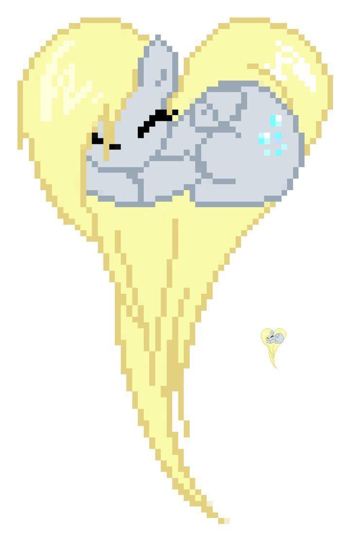 Pixel art mlp derpy