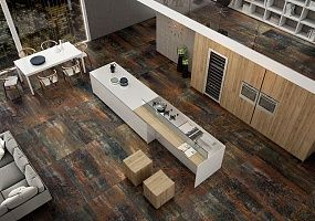 Керамогранит, керамическая плитка, металл, металлическая поверхность, глянцевая плитка, матовая плитка, идеи для дизайна, дизайн интерьеров