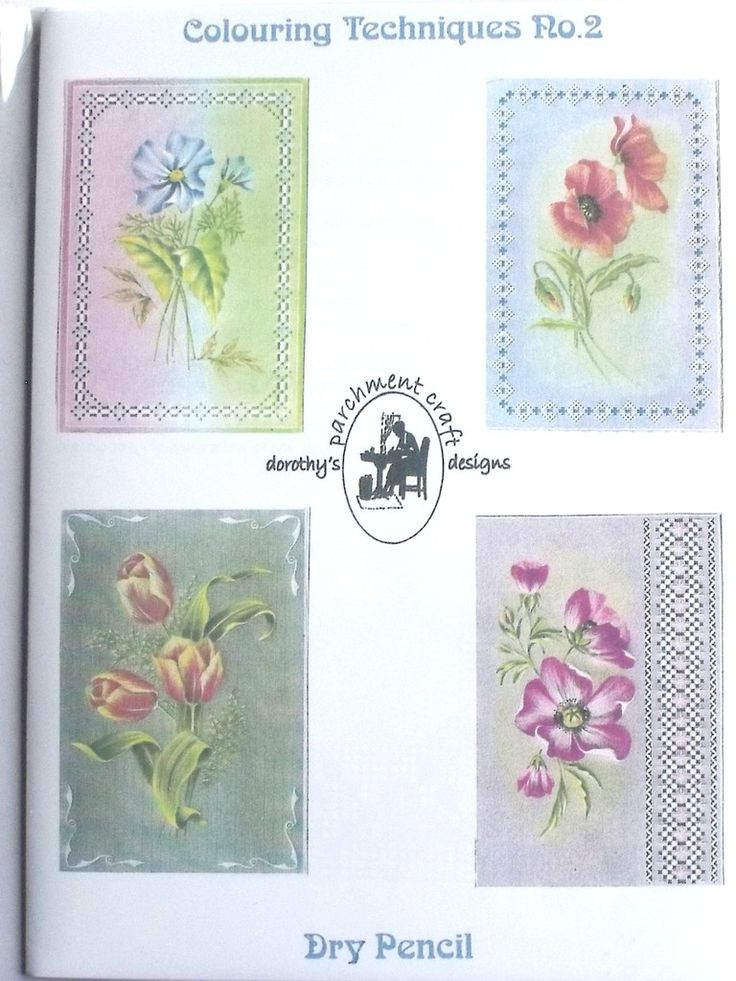 COLOURING TECHNIQUES NO 2 BY DOROTHY HOLNESS  Pattern pack 2 has four lovely floral designs with tips and advice to teach you Dry Pencil Colouring Techniques.