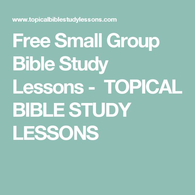 Small Group | Mini Bible Lessons