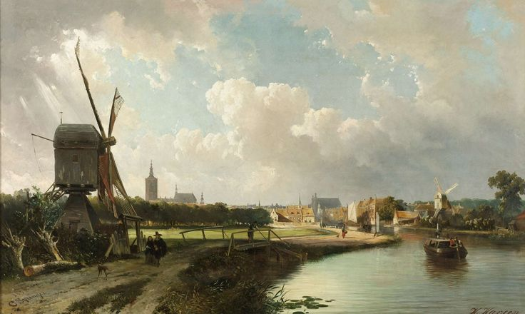 View of The Hague (Netherlands), by Cornelis Springer, 1852