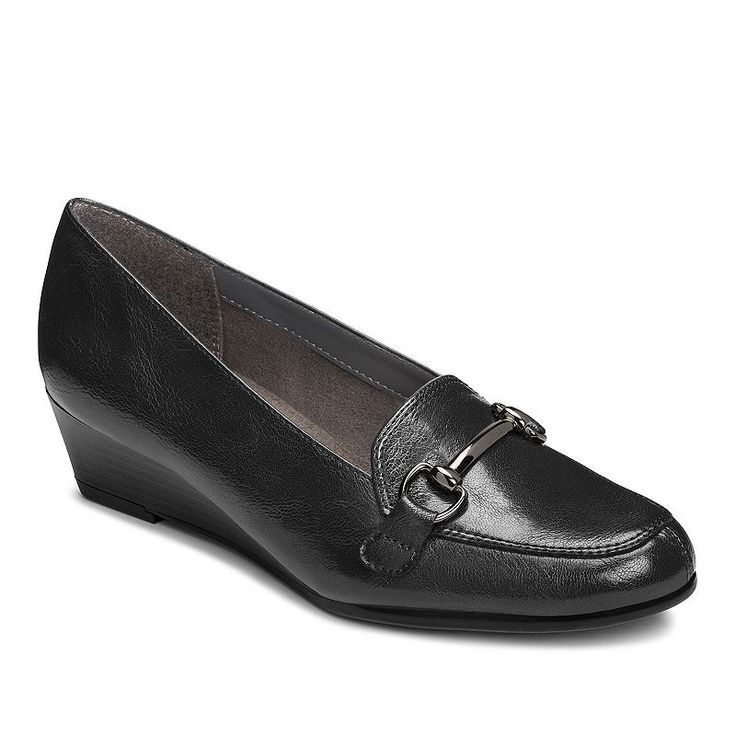 A2 by Aerosoles Love Spell Women's Wedge Loafers, Size: medium (10.5), Black
