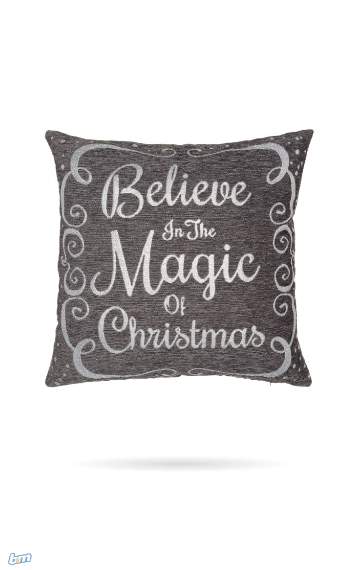 Oversized Chenille Metallic Cushion.  Add a piece of style and comfort to your home over the Christmas period with this lovely cushion.