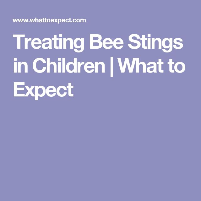 Treating Bee Stings in Children | What to Expect