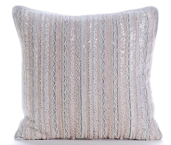 Luxury White Lace Decorative Cushion Covers by TheHomeCentric