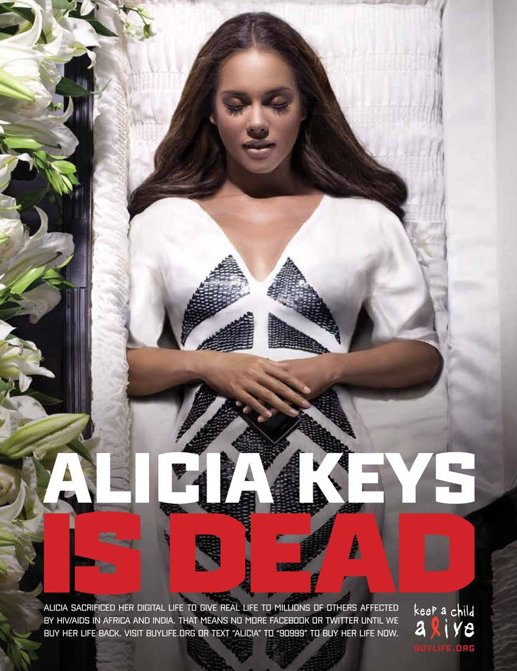 Keep a Child Alive: Alicia Keys is Dead - Print (image) - Creativity Online