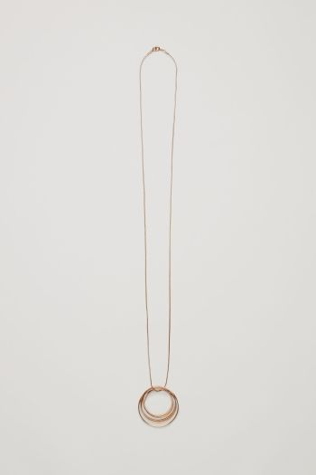 COS Necklace with layered circle pendants in Gold