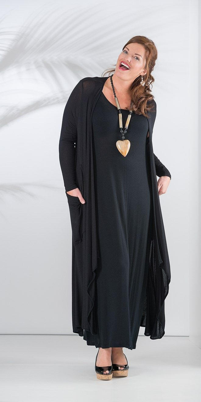 Join Clothes black long knitted cardigan and dress at Box 2