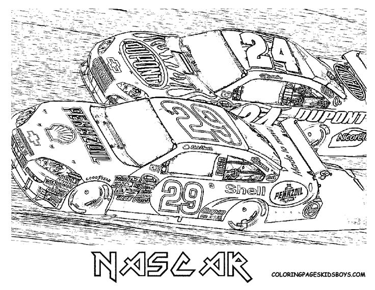 nascar printable coloring pages - photo#20