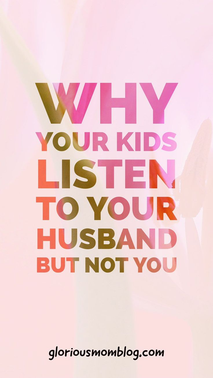Why your kids listen to your husband but not you: a look at some strange family phenomenon that causes your kids to give you more attitude than your husband. Find out why at gloriousmomblog.com.