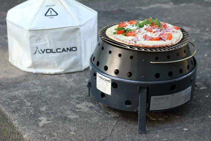 The versatility of Volcano Grills is amazing.  Cook a pizza, grill a burger, or use as a fire pit!    Check out the GearJunkie.com review from one of the best outdoor gear review sites.    Purchase at www.volcanogrills.com