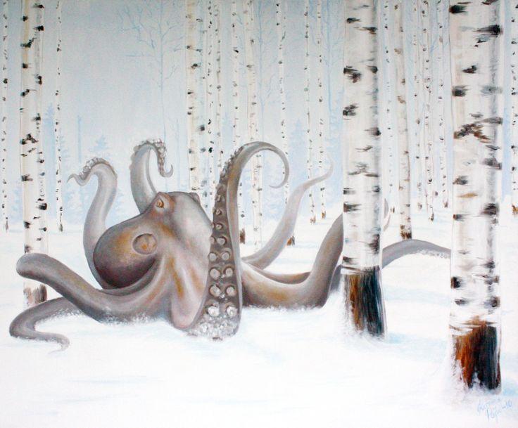 Vanhan Meren Reliikki, 2010 (a relic of an ancient ocean) acrylic on canvas