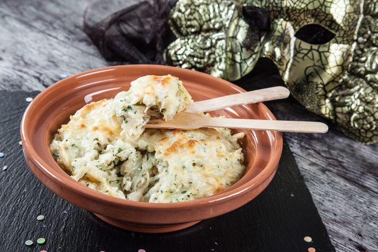 Receita de bacalhau cremoso no forno. Descubra como preparar a receita de bacalhau de maneira prática e deliciosa com a Teleculinária!