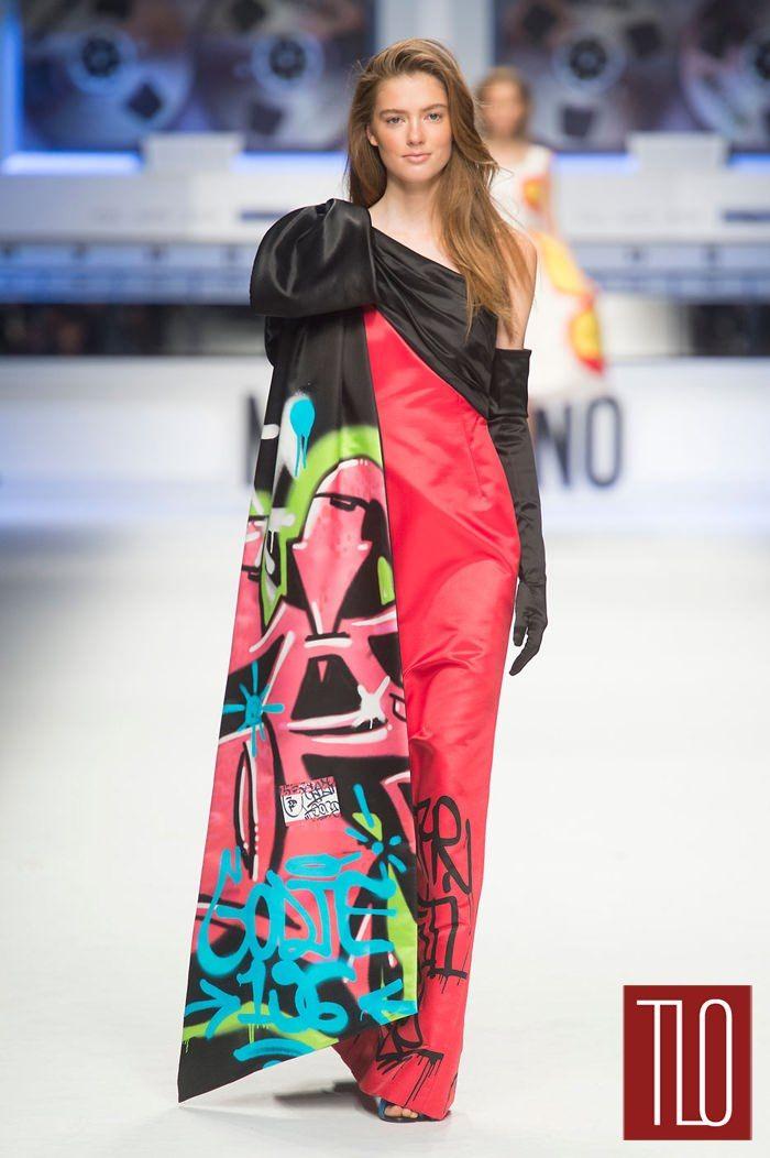 Moschino-Fall-2015 Grafitti gowns again