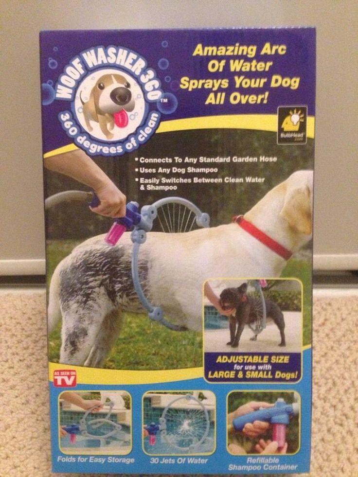 Woof Washer 360 As Seen On TVPet Washer Cleaner Spray Dog Washer Adjustable Sz #WooferWasher360