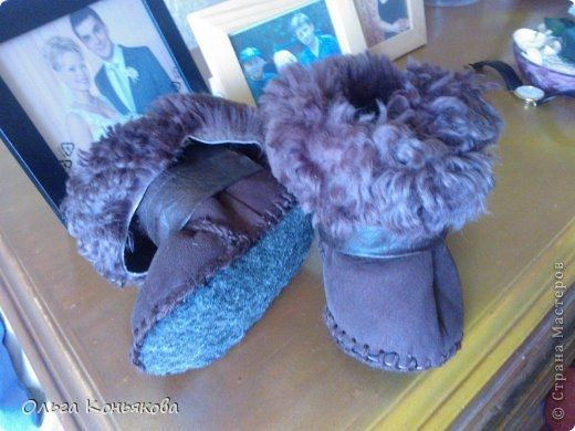 Ugg boots for the kid from the old coats. Pattern (2) (520x390, 120Kb)