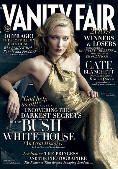 Cate Blanchett Vanity Fair February 2009 cover                                                                                                                                                                                 More