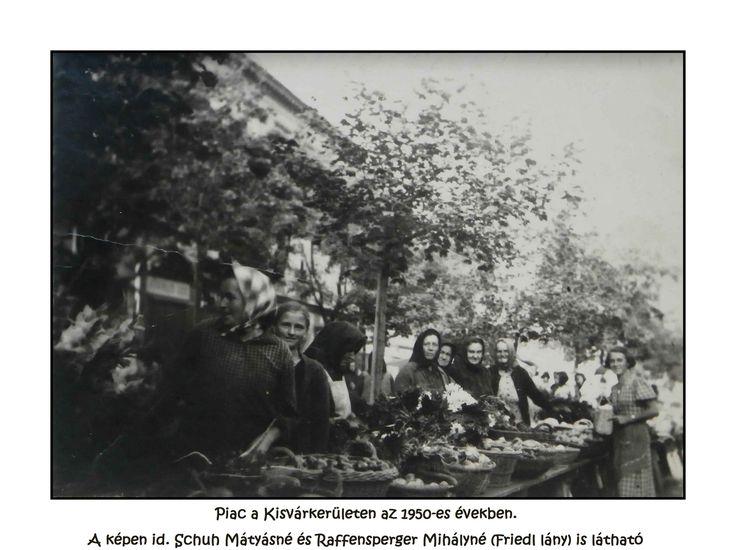 1950-es évek vége Réig piac Schuh Vera képe tacsifoto