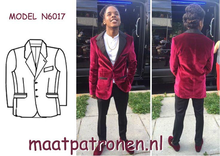 MAATPATRONEN  Colbert in Hugh Hefner stijl.  MODEL N6017  #maatpatronen #patronen_op_maat #herenkleding_patroon #heren_jas #jas_patroon #grote_maat_patroon #tienerkleding_patroon