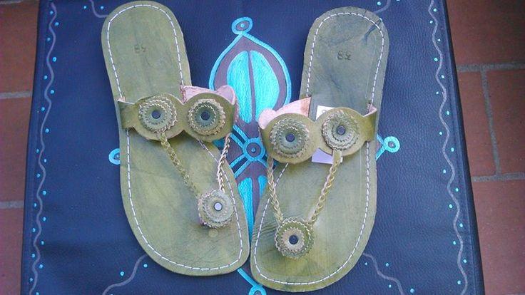 Sandali infradito pelle (Provenienza: Marocco)