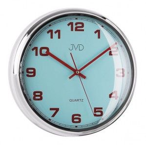 #Clock #JVD Plastikowy zegar ścienny sweep HA4.1 - Jasněna Vláhová Design - niebieski
