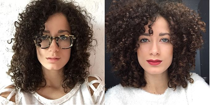 Curly Hair Styles With Bangs: 3c Curly Hair Deva Cut With Bangs