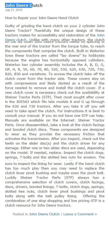 john deere 158 loader manual