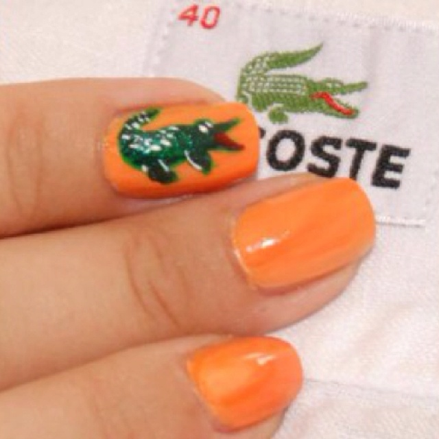 crocodile nail art design