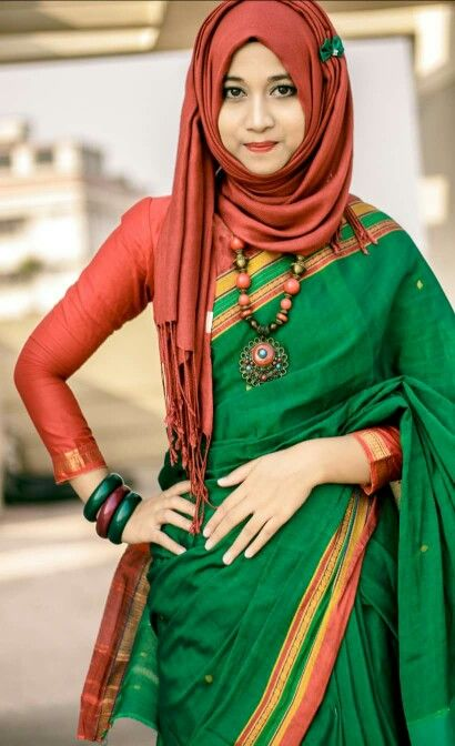 17 Best Images About Hijab With Saree On Pinterest