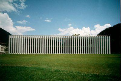 Livio Vacchini - La Palestra sports hall, Lisone, 1995-97
