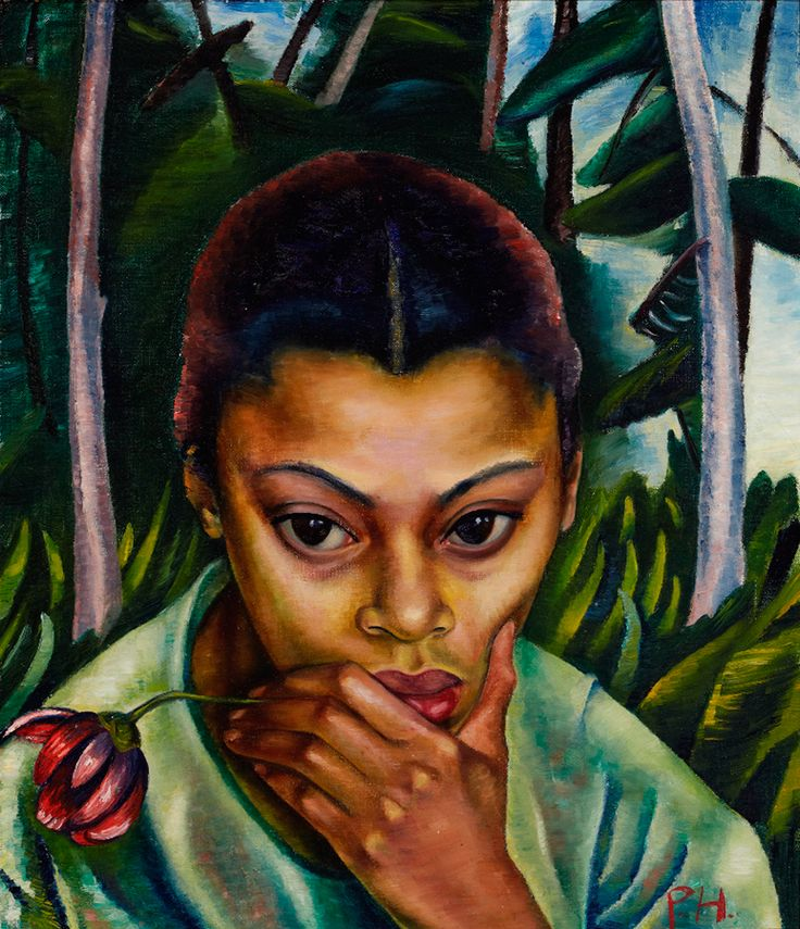 "Post-colonial theory provides a useful framework for thinking about Heward's representations of black subjects. ""Negress with Flower,"" n.d., Robert McLaughlin Gallery."