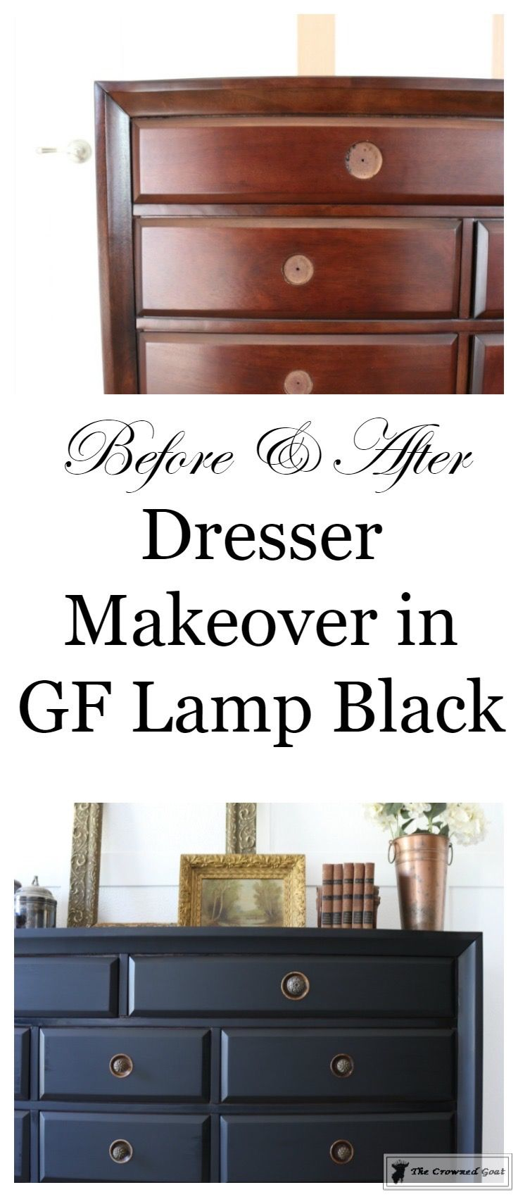 Painted Dresser In General Finishes Lamp Black