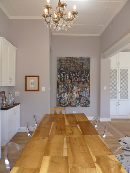 This work by Adolf Tega makes a strong statement in the dining room