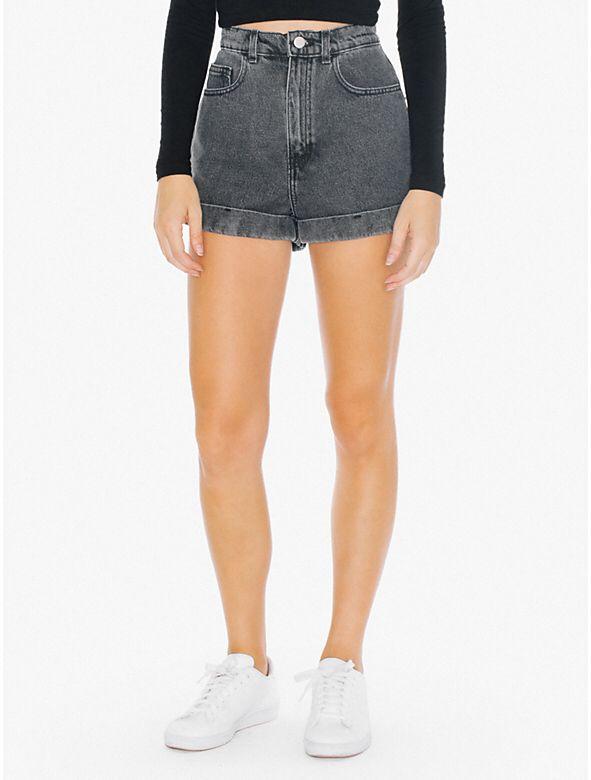High Waist Acid Wash Denim Shorts from American Apparel $58,00