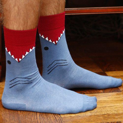Men's Shark Socks by K. Bell