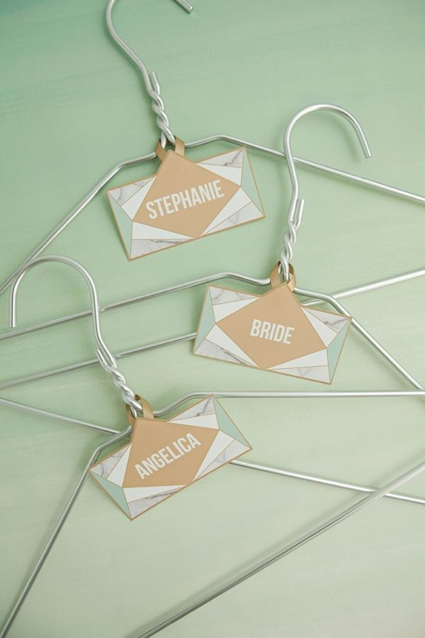 DIY Your Own Bridal Party Hanger Tags with Free Printables from from @sturquoiseblog via @AisleSociety