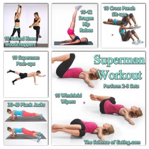 Become your own superhero! Add muscle, gain strength and burn body fat with my Superman/Superwoman workout!