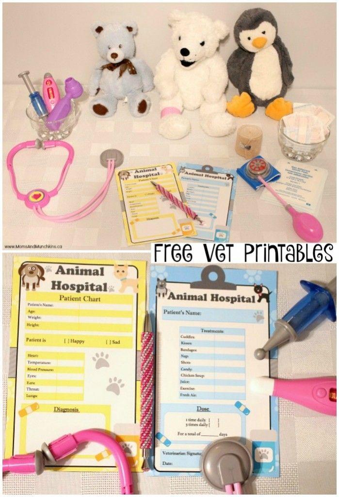 Free Vet Printables Moms Munchkins Dramatic Play Preschool Dramatic Play Centers Dramatic Play