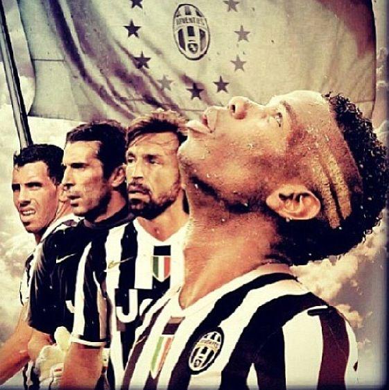 Juventus Pogba, Andrea Pirlo, Gigi Buffon, Carlos Tevez