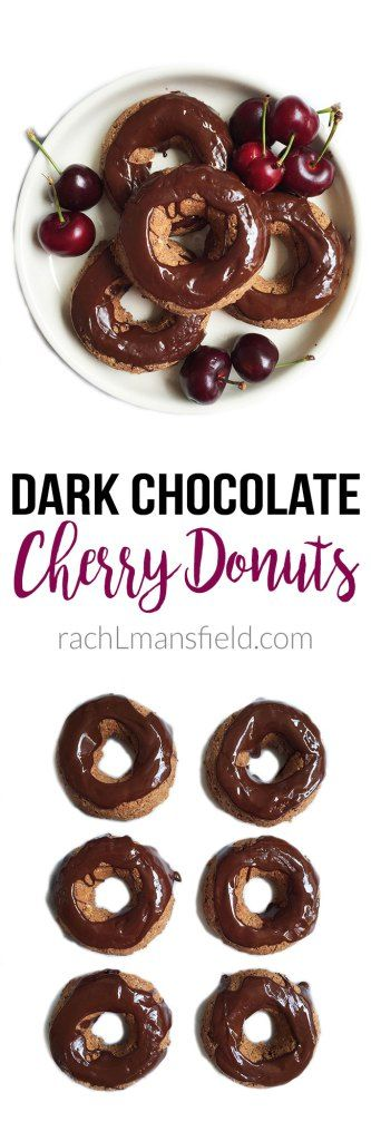 Grain-Free Dark Chocolate Cherry Donuts made with deliciously clean ...